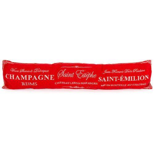 Poduszka uszczelniająca ozdobna do okien champagne czerwony, 90 x 20 cm marki 4-home
