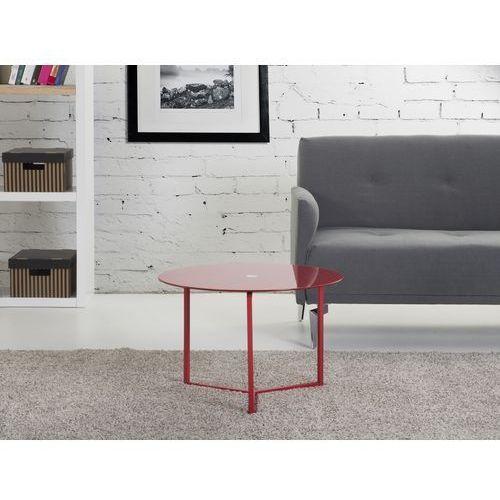 Nowoczesny stolik kawowy czerwony 60x40 cm - ława - stół - TRIBECA