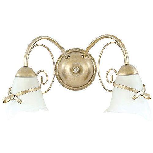 Kinkiet lampa ścienna Luminex Kokarda 2x60W E14 złoty 0071, 0071