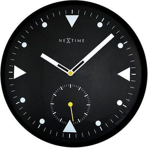 Zegar ścienny serious black indeks marki Nextime