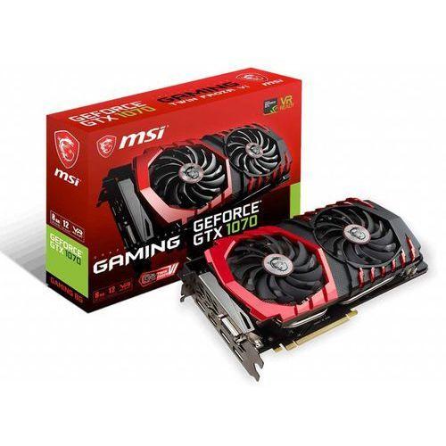 Karta VGA MSI GTX1070 GAMING 8G OC 8GB GDDR5 256bit DVI+HDMI+3xDP PCIe3.0, GeForce GTX 1070 GAMING 8G