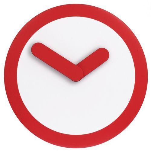 Zegar ścienny Nextime - Focus - czerwony - Czerwony