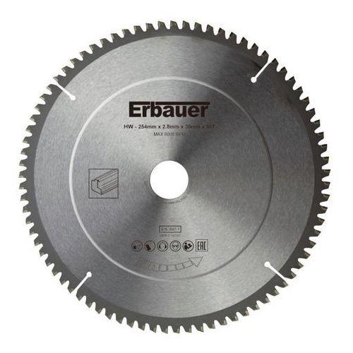 Tarcza uniwersalna Erbauer 254 x 30/25/20/16 mm 80T (3663602812760)