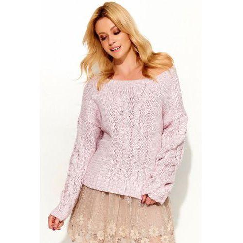 Sweter damski model s52 pink marki Makadamia