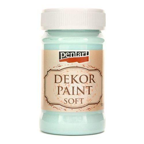 Farba dekor paint soft 100 ml - niebieski lodowy - nil marki Pentart