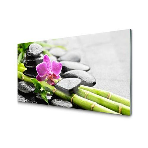 Panel kuchenny bambus kwiat kamienie sztuka marki Tulup.pl