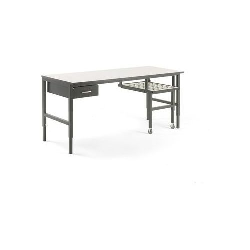 Stół roboczy CARGO, z wysuwaną półką, 2000x750 mm, szuflada