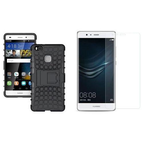 Zestaw | Perfect Armor Czarny | Pancerna obudowa + szkło ochronne Perfect Glass dla Huawei P9 Plus