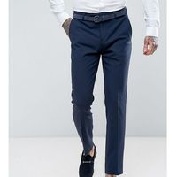 Noose & Monkey Super Skinny Wool Mix Suit Trousers In Navy - Navy, wełna