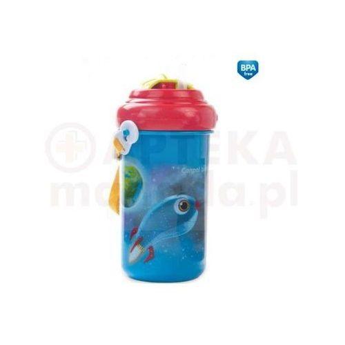CANPOL Bidon ze składaną rurką i paskiem 400ml - niebieski (5903407041025)