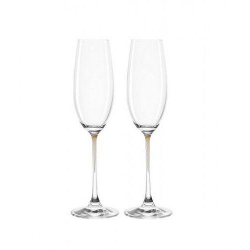 Lo - zest. 2 kieliszków do szampana brąz, la perla marki Leonardo
