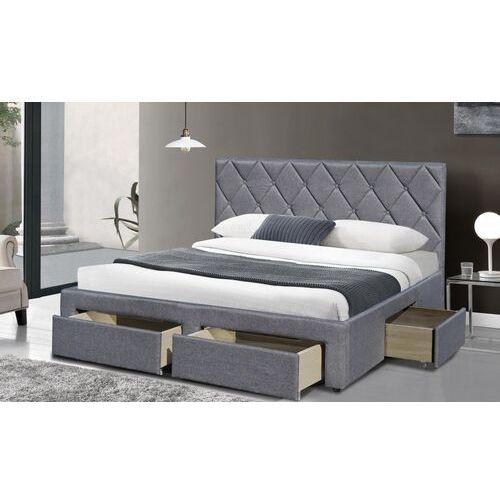 Style furniture Adele tapicerowane łóżko 160x200 cm z szufladami