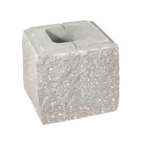 Ziel-bruk Pustak ścienno-cokołowy 20 x 19.5 x 19 cm betonowy trzystronnie łupany skała lubuska (5901171180216)