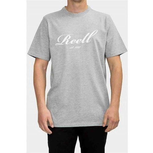 Koszulka - big script t-shirt heather grey (heather grey) rozmiar: m marki Reell