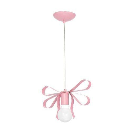 Milagro Dziecięca lampa wisząca emma mlp 1039 dekoracyjna oprawa zwis kokarda jasnoróżowa (5902693746492)