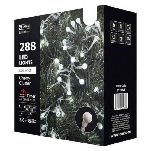 Emos Zy2032t lighting dekoracje 288 led kulki 2,4m ip44 cw timer emos