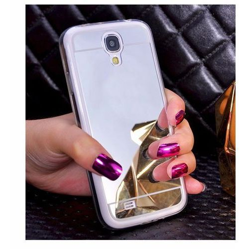 Slim Mirror Case Srebrny | Etui dla Samsung Galaxy S4 - Srebrny, kolor szary
