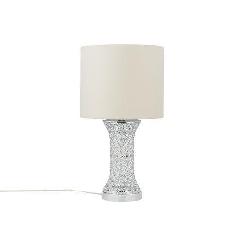 Beliani Lampa stołowa srebrna 55 cm liffey (4251682216043)