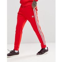 adidas Originals adicolor Superstar Joggers In Red CW1276 - Red, kolor czerwony