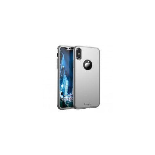 iPaky 360 Protection etui na całą obudowę przód i tył + szkło hartowane iPhone SE / 5S / 5 srebrny, 43101 (10713637)
