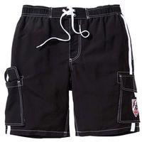 Bermudy plażowe regular fit czarny marki Bonprix