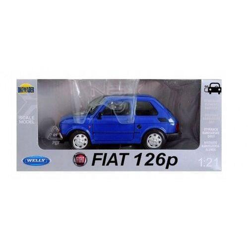 Pojazd fiat 126p niebieski 1:21 marki Dromader