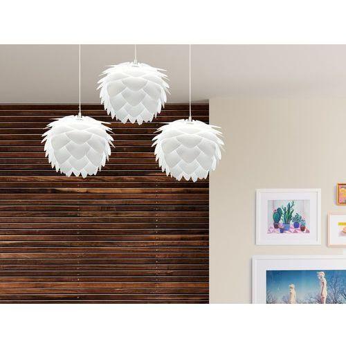 Beliani Komplet lamp sufitowych wraz z oprawą 3szt - białe - andelle mini (7081455158259)