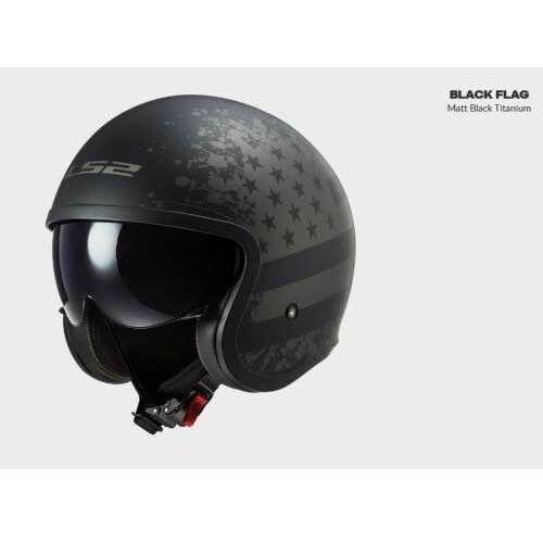 Kask motocyklowy of599 spitfire matt black flag - nowość 2021 marki Ls2