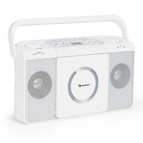Auna Boomtown usb odtwarzacz cd radio ukf mp3 radioodtwarzacz biały
