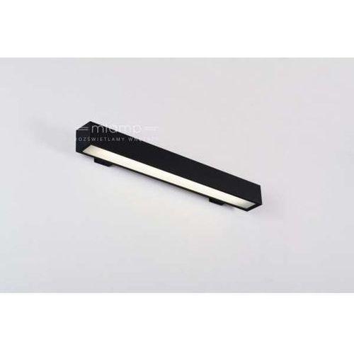 Labra Kinkiet lampa ścienna yon 6-0028c  prostokątna oprawa metalowa listwa czarna