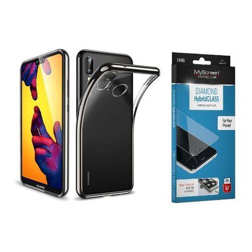 Zestaw | Etui ESR Essential Black + Szkło ochronne MyScreen DIAMOND HybridGlass dla modelu Huawei P20 Lite, kolor czarny