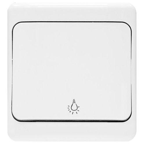 bryza przycisk światło; ip44 10ax, 250v~, biały 180403 marki Kos