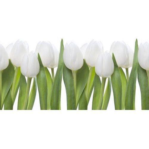 Wally - piękno dekoracji Wyprzedaż: fototapeta do kuchni białe tulipany 04- 302x50cm, folia wall-art, laminat matowy