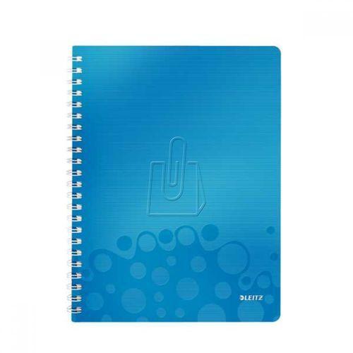 Kołonotatnik wow pp a4 80 kratka niebieski 46380036 marki Leitz