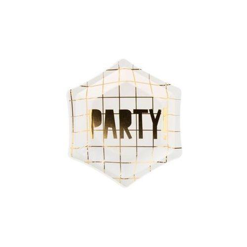 Talerzyki papierowe białe party! - 12,5 cm - 6 szt. marki Party deco
