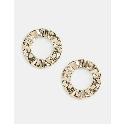 Missguided circle statement earrings in gold - Gold