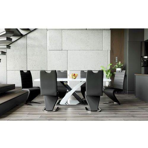 """Meblemwm Stół """"x"""" wysoki połysk 160/220 + 6 krzeseł dc-99-2"""