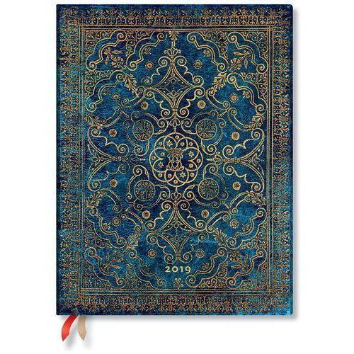 Paperblanks Kalendarz książkowy ultra 2019 12m azure