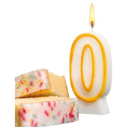 Świeczka na tort urodziny cyfra 0 7,7cm SUSY-CARD - cyfra 0