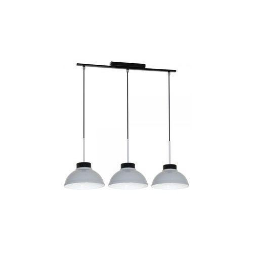Lampa wisząca Luminex Factor Gray 6167 lampa sufitowa 3x60W E27 biały / czarny, 6167