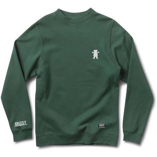 Bluza - og bear emb crewneck forrest green-white (grwt) rozmiar: xxl marki Grizzly