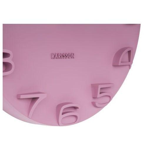 Karlsson Zegar ścienny on the edge różowy