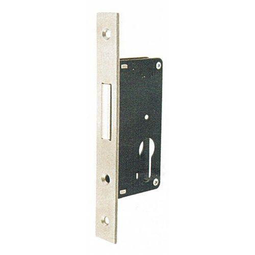 Zamek do drzwi profilowych LOB dodatkowy czoło stal nierdzewna 22 mm