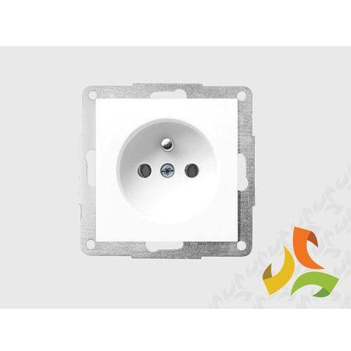 Gniazdo z uziemieniem, biały FIORENA, 22000102PF