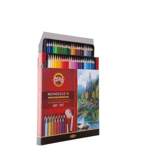 Koh-i-noor Kredki mondeluz 48 kolorów + pędzel (8593539193876)