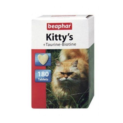 Beaphar Kitty's taur.+biot. 180szt. - tabletki witaminowe z tauryną i biotyną dla kotów