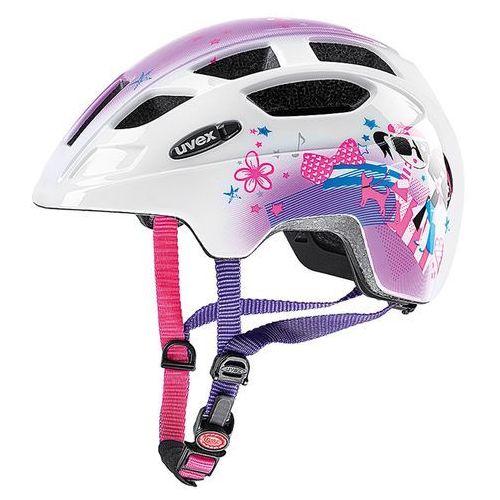 Dziecięcy kask rowerowy finale junior 48-52cm pink girl (biały/różowy) marki Uvex