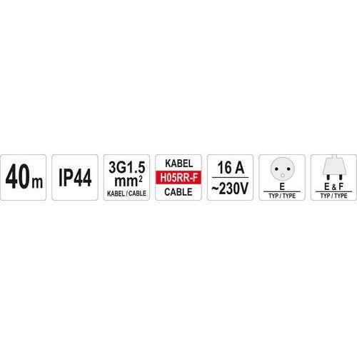 Yato Przedłużacz yt-81054 bębnowy 4 gniazda (40 metrów)