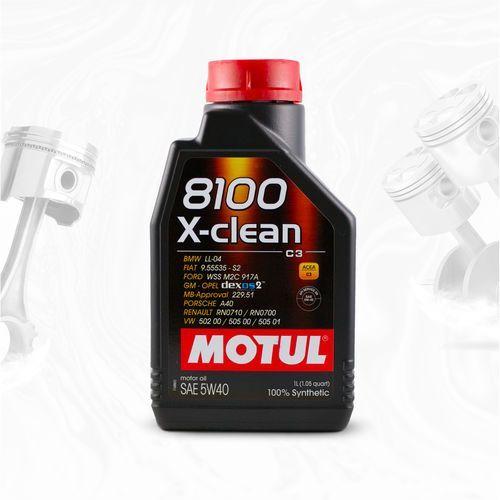 8100 x-clean 5w40 c3 vw 502.00/505.00/505.01, bmw ll-04, mb229.51 – 1l marki Motul