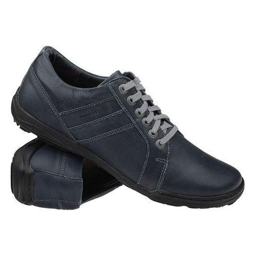 Półbuty buty KACPER 1-4237-364 Granatowe - Niebieski ||Granatowy, kolor niebieski